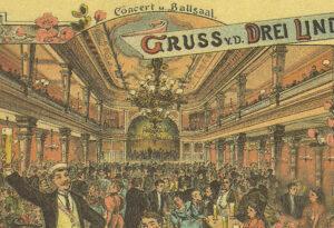 1913_Postkarte_Konzert u. Ballsaal Drei Linden